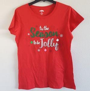 """Holiday Christmas Womens Tee """"Tis the Season"""""""